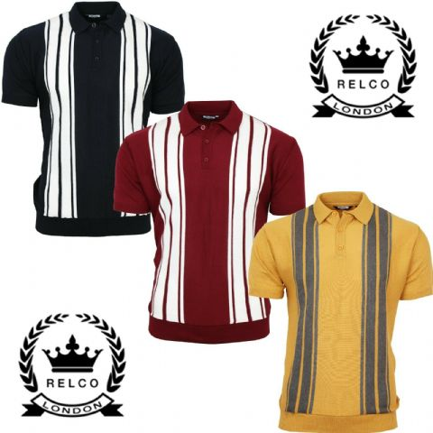 Relco Mens Striped Knitted Top & Sta Press Trs